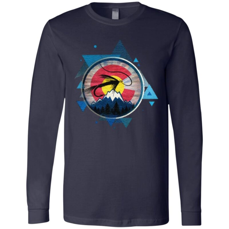 Colorado Flag With Fly Fishing TShirt