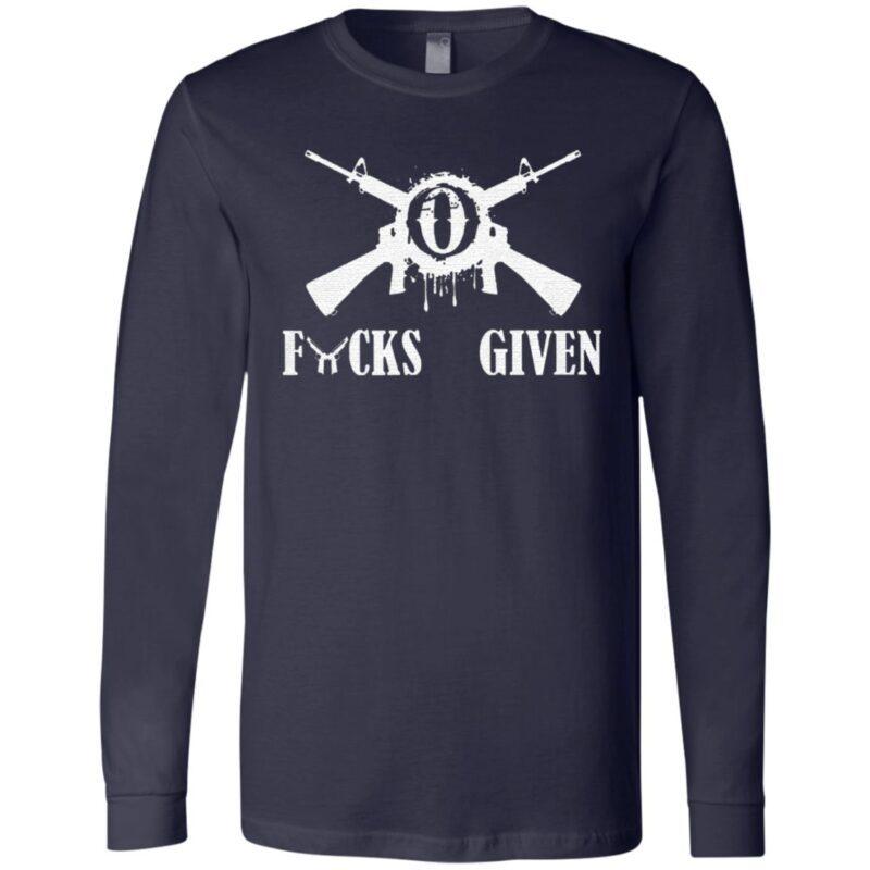 Hunting Gun 0 Fucks Given T-Shirt