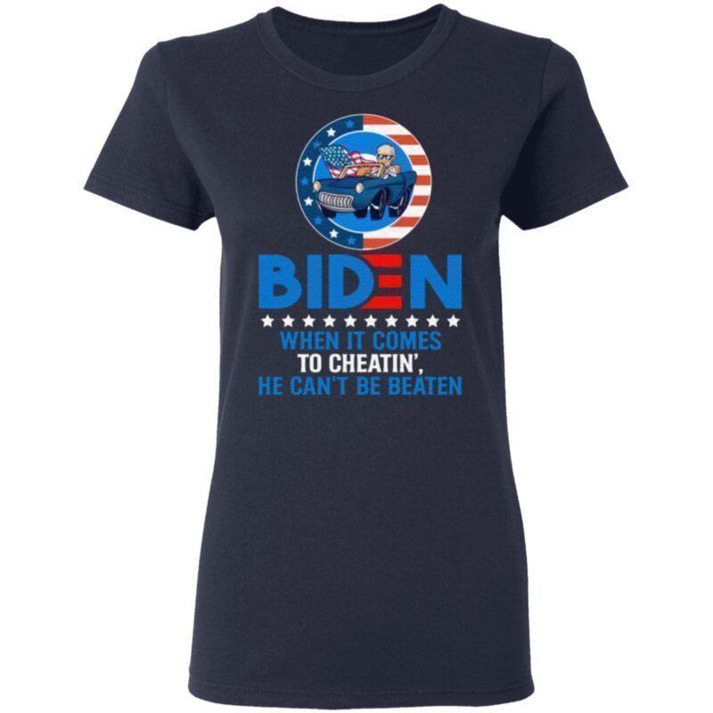 When It Comes to Cheatin' He Can't Be Beaten Biden Harris Not My President T-Shirt