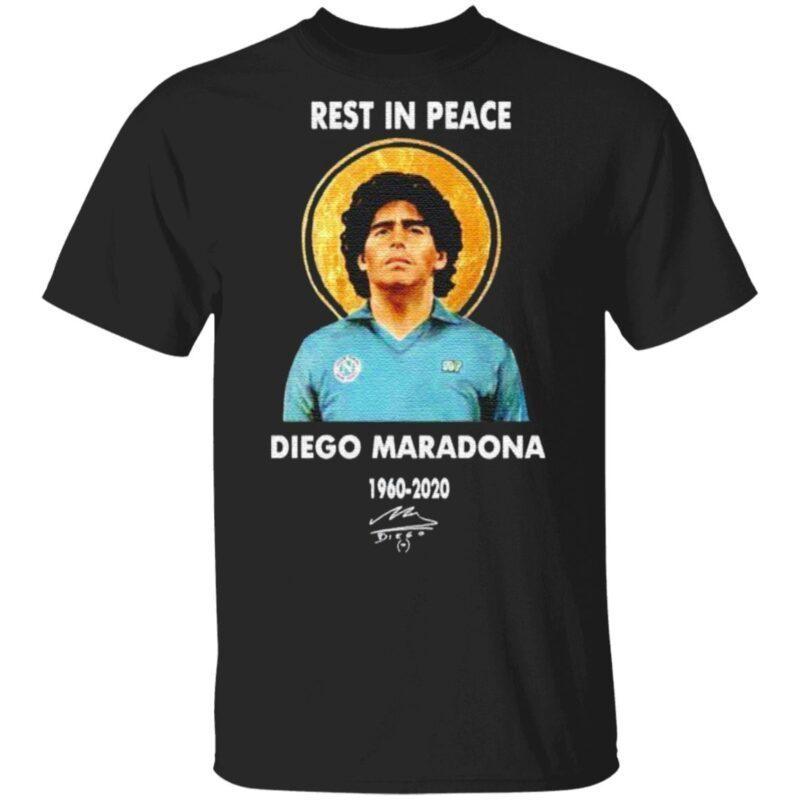 Rest in peace Diego Maradona 1960 2020 signature t shirt