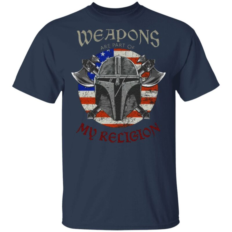 Weapons Are Part Of My Religion Warrior Head T-Shirt