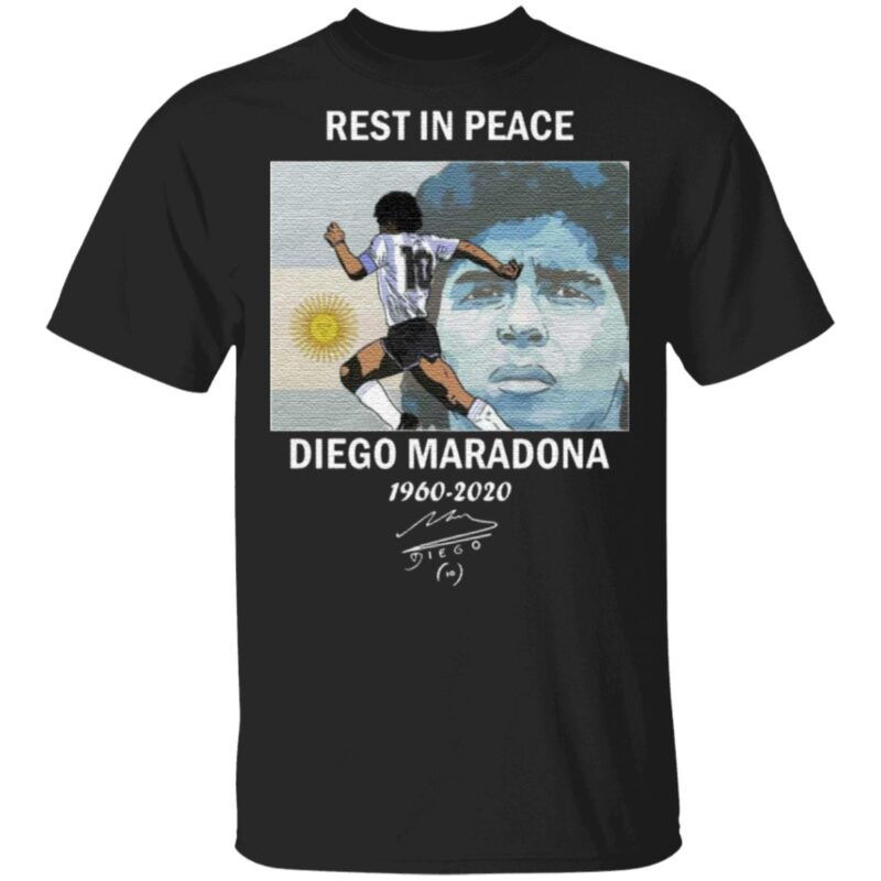 Rest In Peace Diego Maradona 1960-2020 T-Shirt