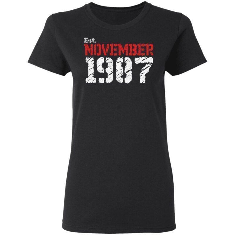 Est November 1987 Birthday Gift T Shirt