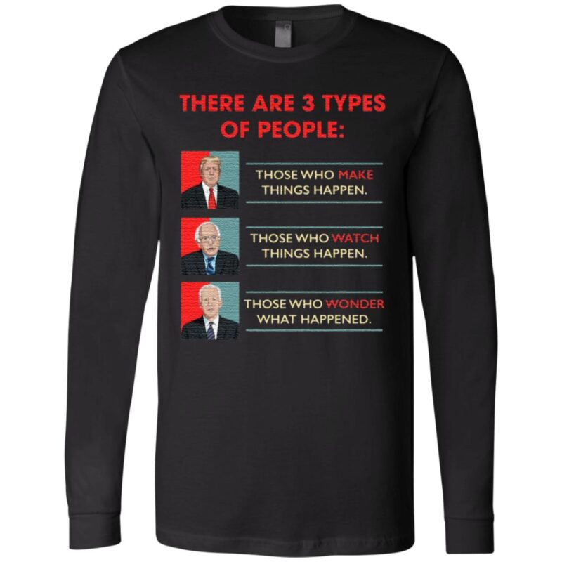 There Are 3 Types of Peoples Donald Trump Vs Joe Biden Funny Bernie Sanders Election 2020 T-Shirt
