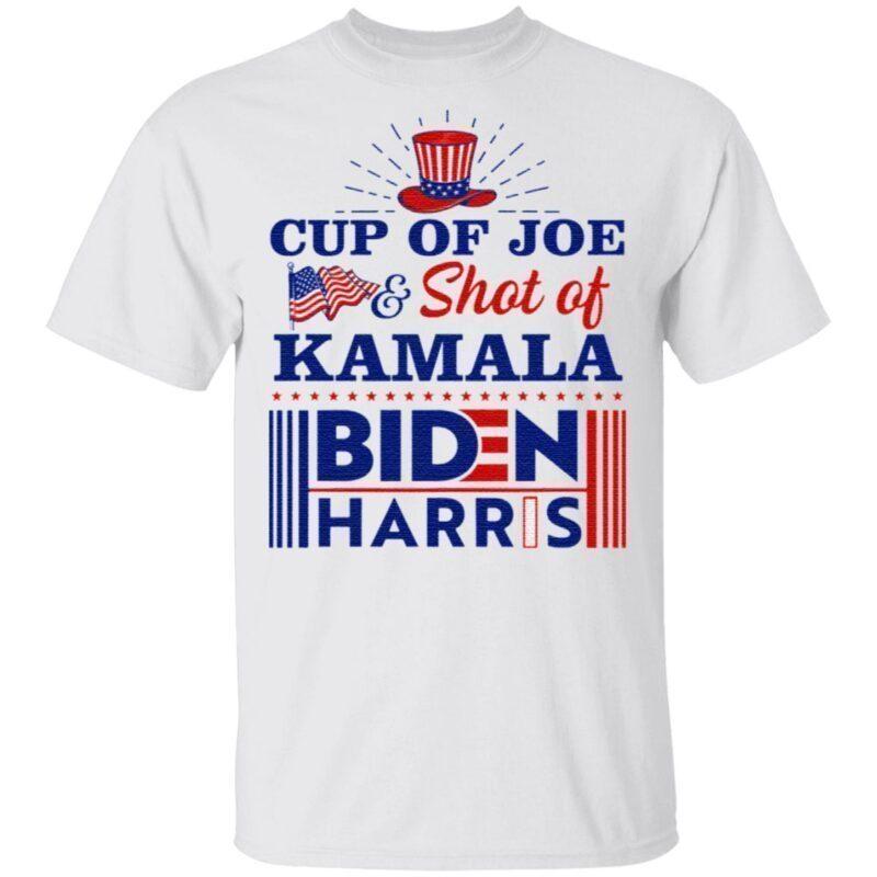 Cup Of Joe And Shot Of Kamala Biden Harris TShirt