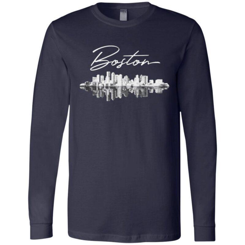 Boston Ma Skyline T Shirt