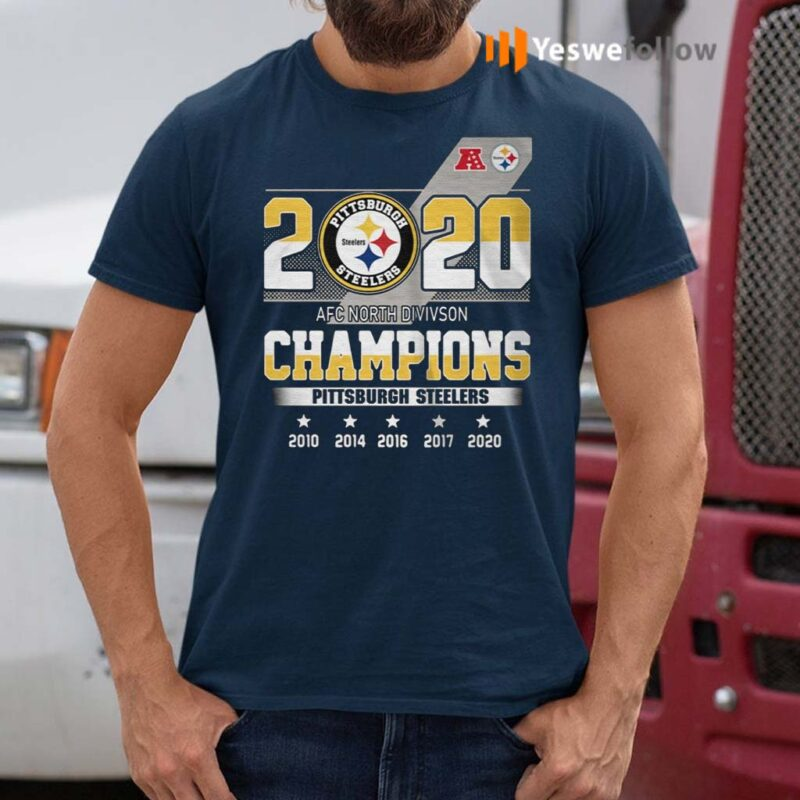 2020-AFC-North-division-Champions-Pittsburgh-Steelers-shirts