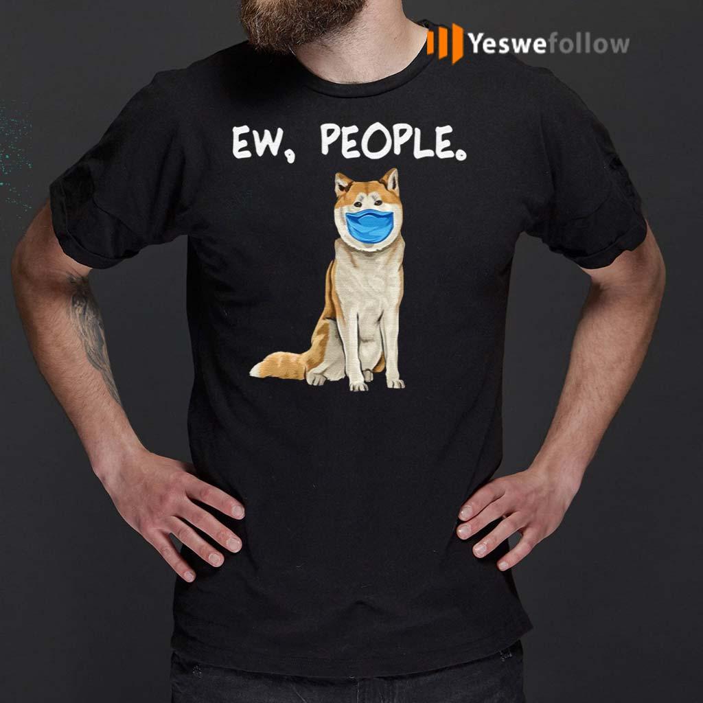 Akita-Ew-People-Dog-Wearing-Face-Mask-T-Shirt