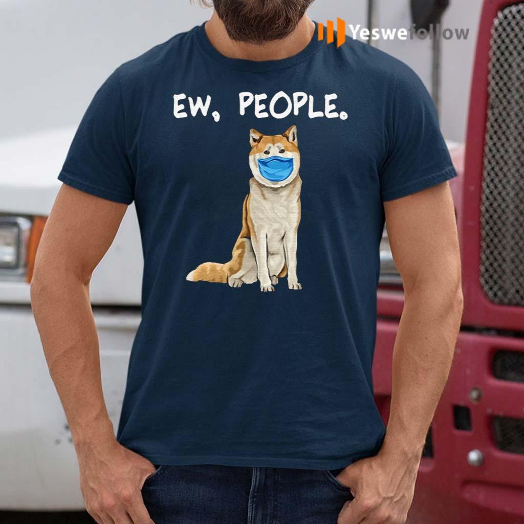 Akita-Ew-People-Dog-Wearing-Face-Mask-T-Shirts