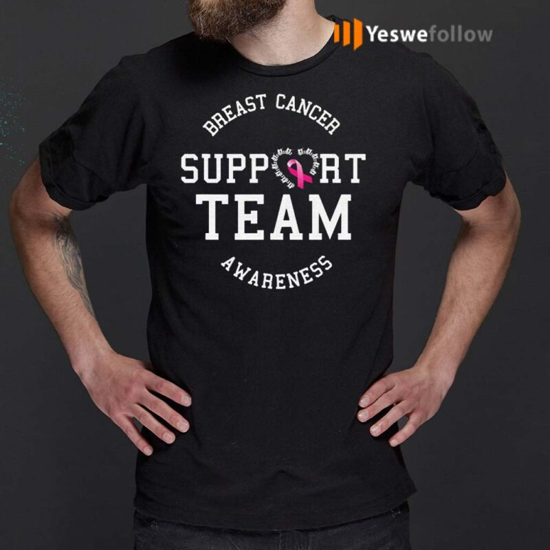 Breast-Cancer-Support-Team-Awareness-Ribbon-Pink-Shirts