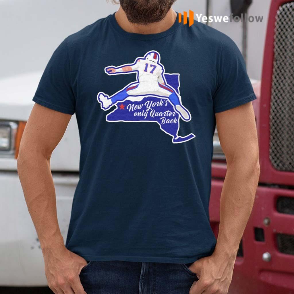 Buffalo-Bills-Josh-Allen-New-York's-Only-Quarterback-Shirt