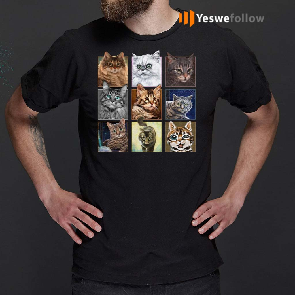 Cats-In-Squares-T-Shirt