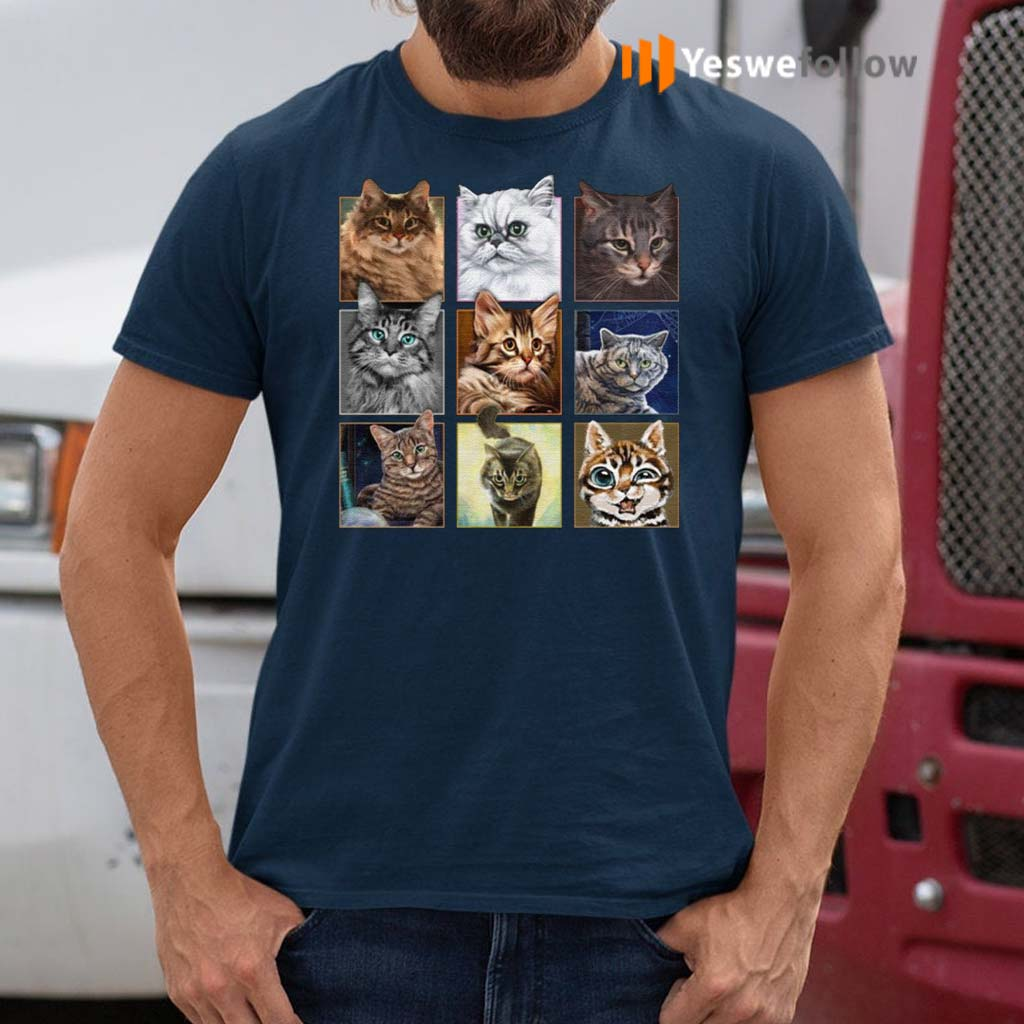 Cats-In-Squares-T-Shirts