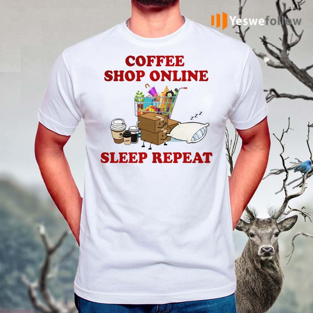 Coffee-Online-Shopping-Sleep-Repeat-TShirt