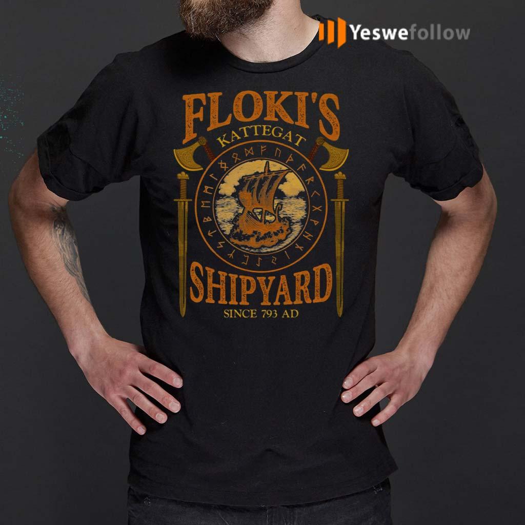 Floki's-Shipyard-Since-793-AD-Kattegat-T-Shirts