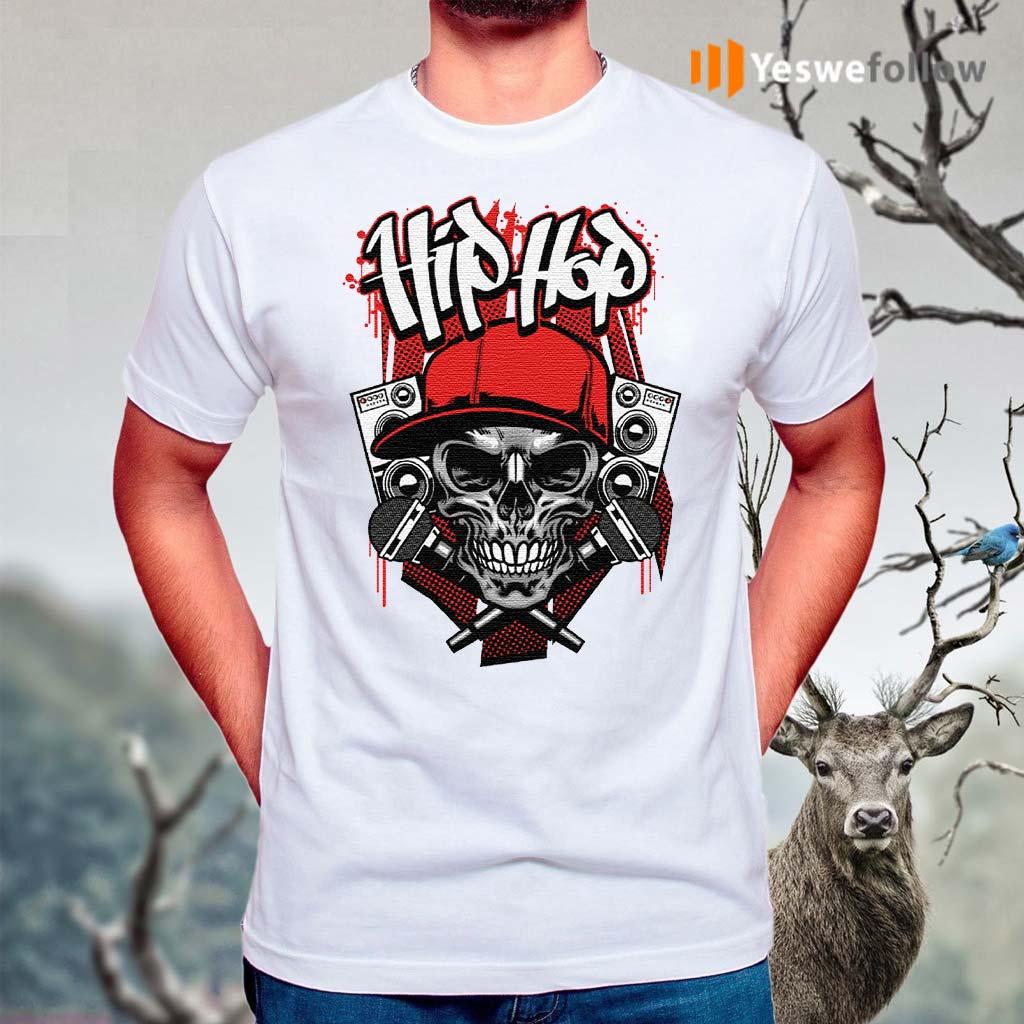 Hip-hop-micro-skull-t-shirt