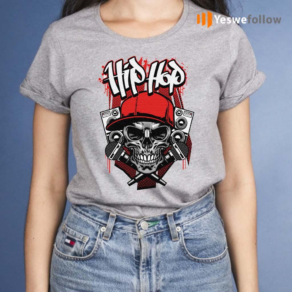 Hip-hop-micro-skull-t-shirts
