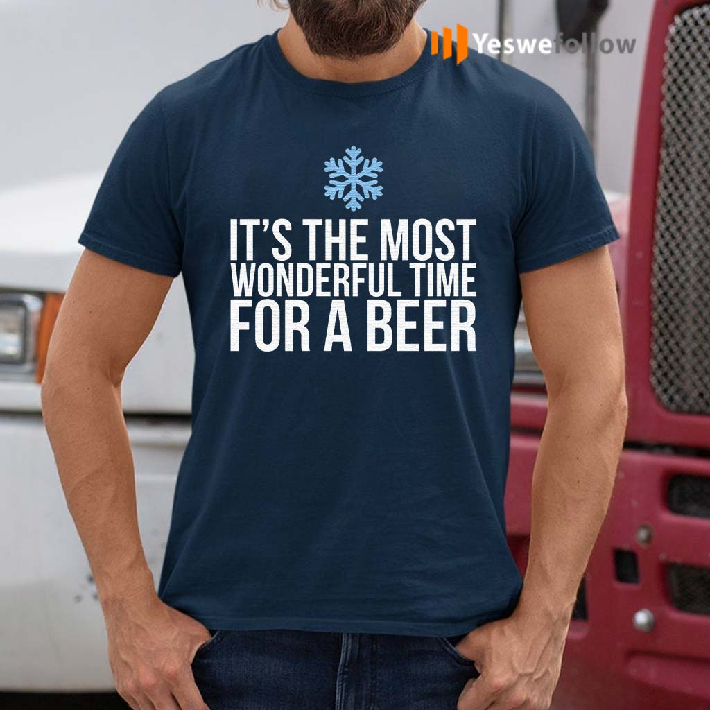 Its-The-Most-Wonderful-Time-For-A-Beer-T-Shirts