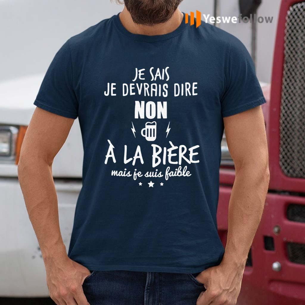 Je-Devrais-Dire-Non-A-La-BieRe-Shirt