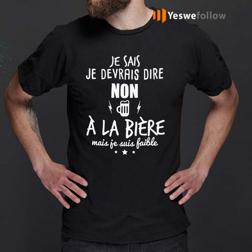 Je-Devrais-Dire-Non-A-La-BieRe-Shirts