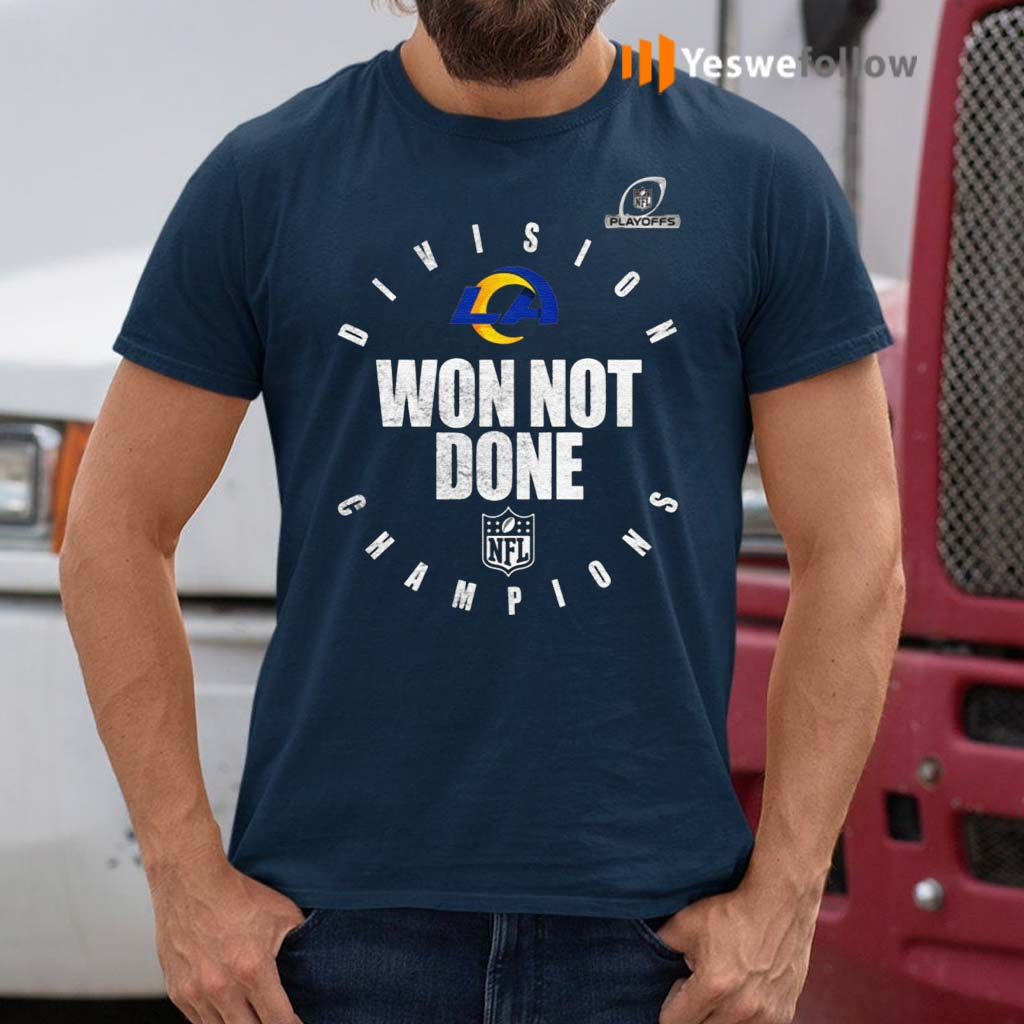 Los-Angeles-Rams-NFC-West-Champions-2020-Won-Not-Don-Shirt