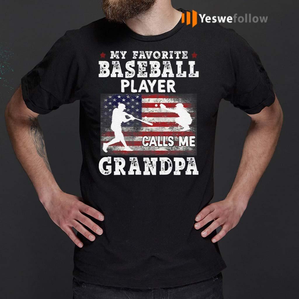 My-Favorite-Baseball-Player-Calls-Me-Grandpa-T-Shirt
