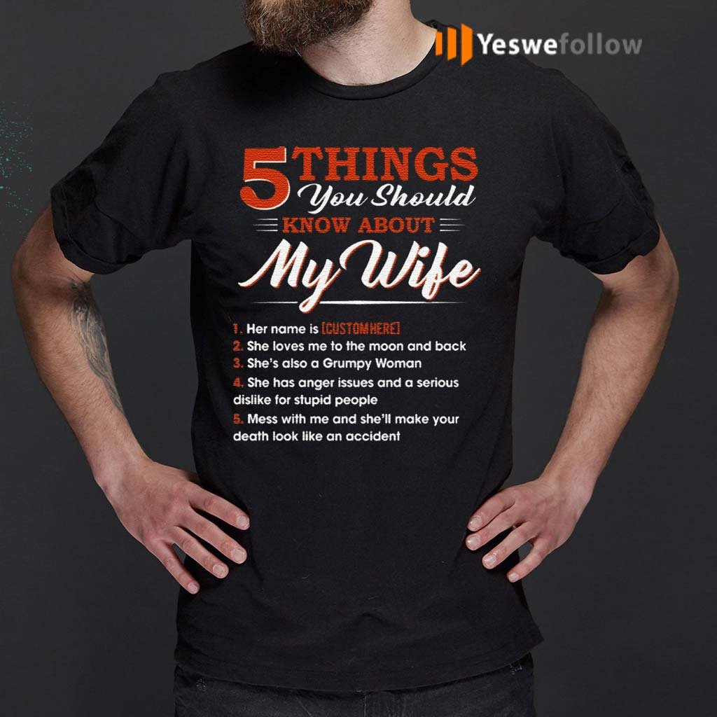 Personalized-5-Things-You-Should-Know-About-My-Wife-TShirts