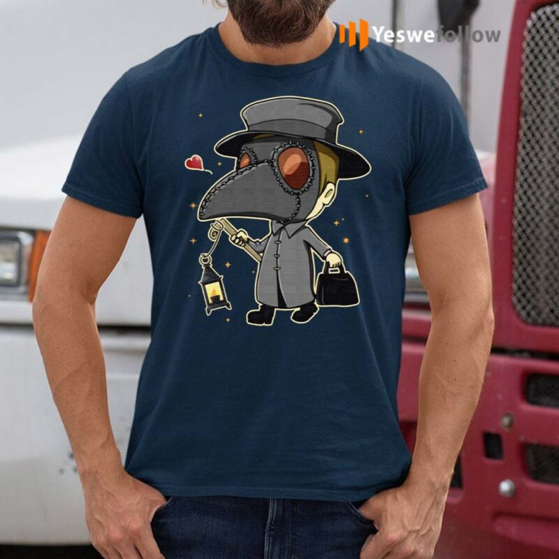 Plague-Doctor-With-Lantern-T-Shirts