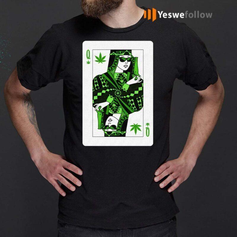 Queen-Of-Weed-Playing-Card-Marijuana-Pot-Smoker-Gifts-T-Shirt