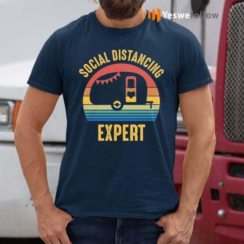 Social-Distancing-Expert-Camping-T-Shirts