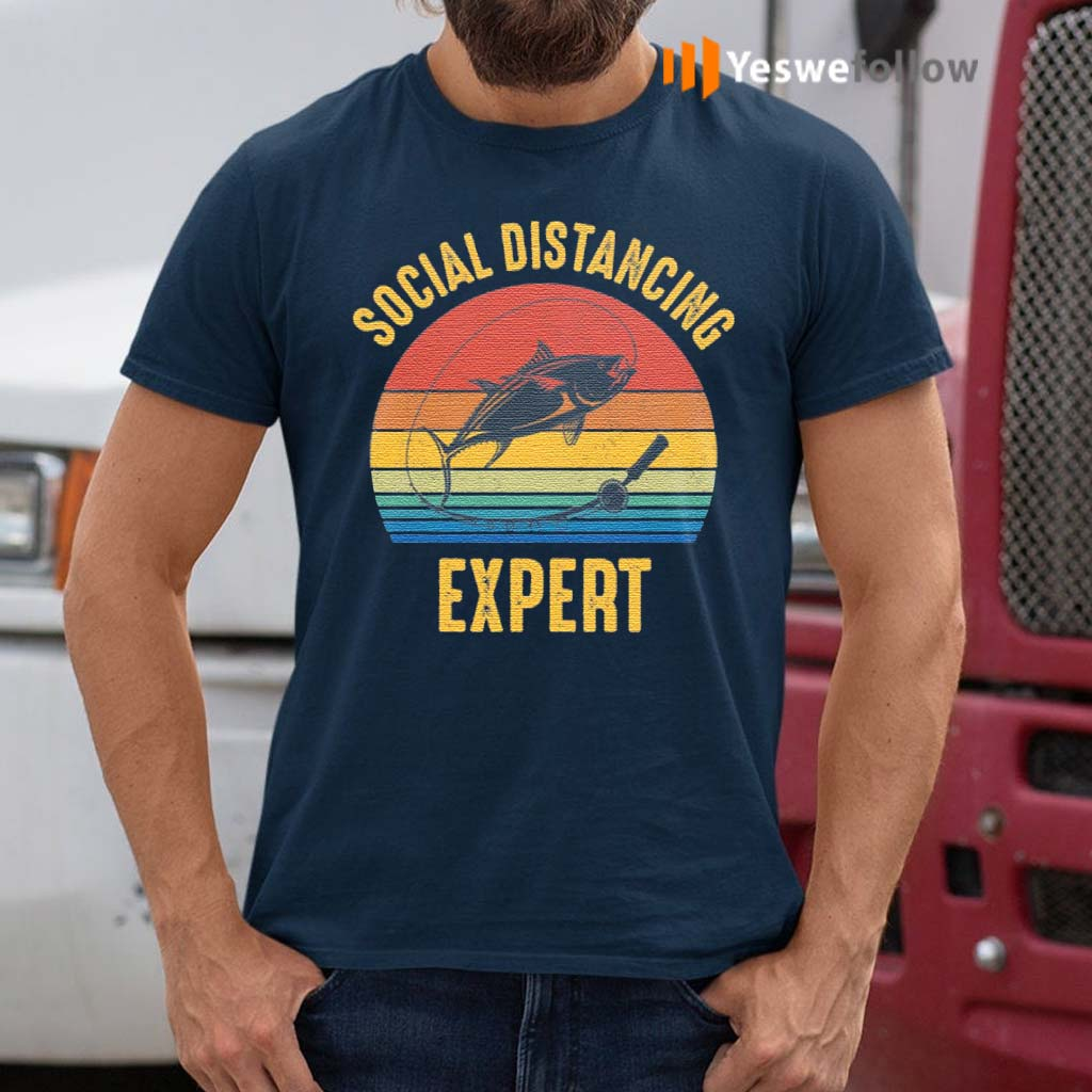 Social-Distancing-Expert-Fishing-T-Shirt