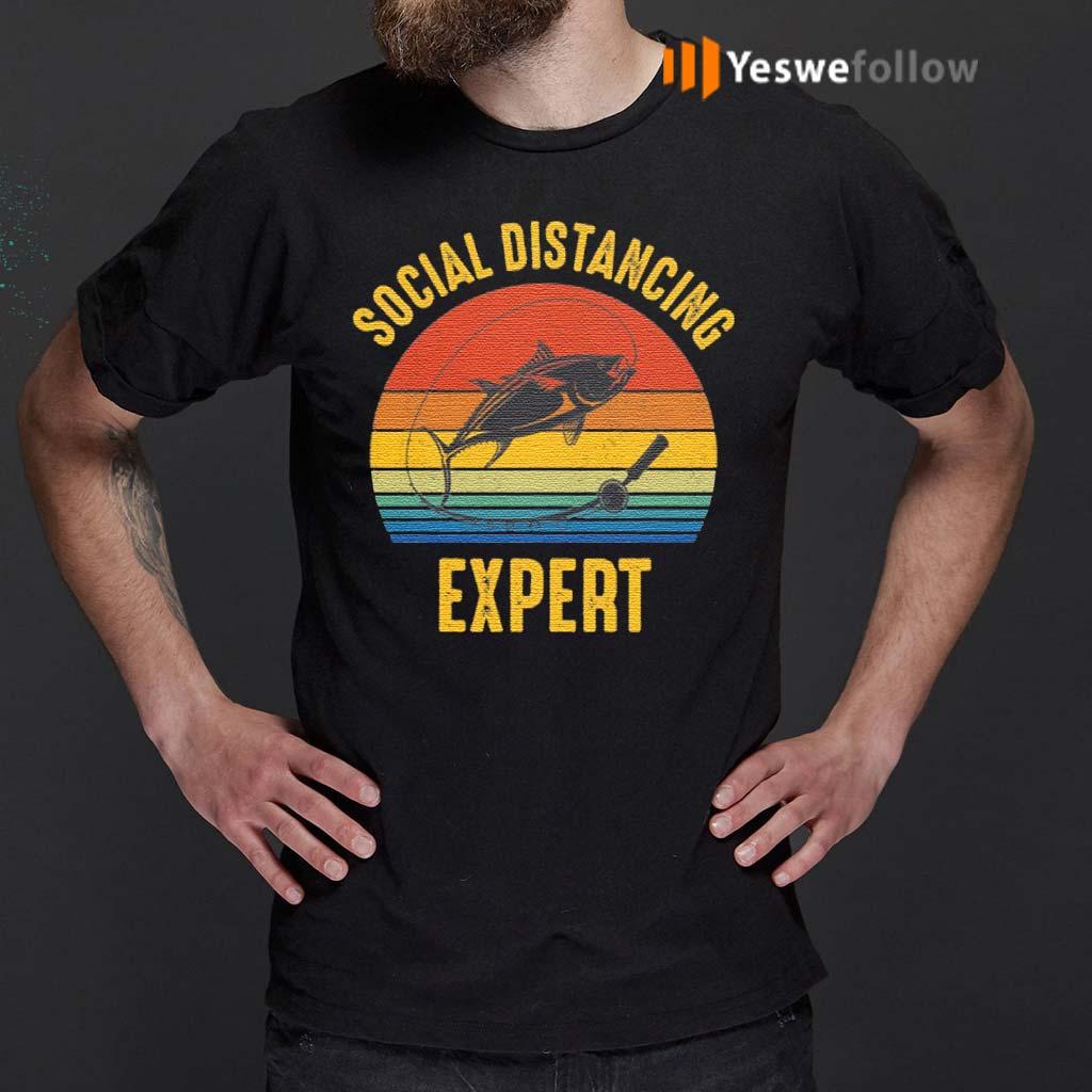 Social-Distancing-Expert-Fishing-T-Shirts