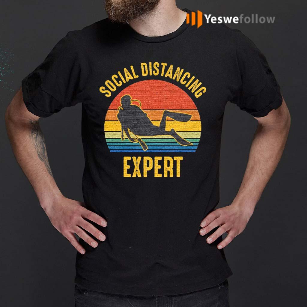 Social-Distancing-Expert-Scuba-Diving-T-Shirt