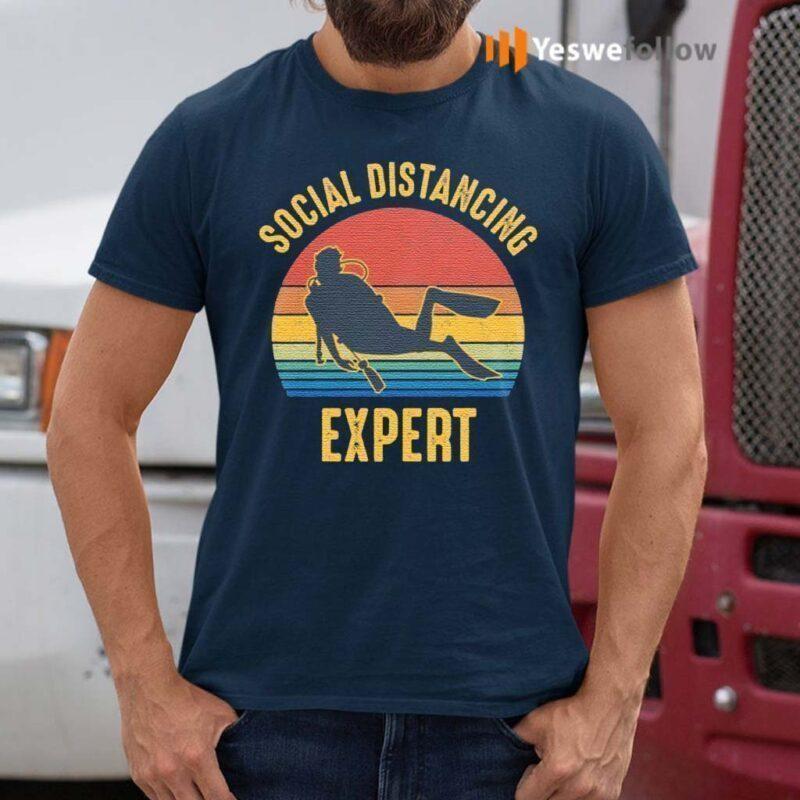 Social-Distancing-Expert-Scuba-Diving-T-Shirts