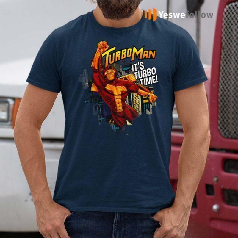 Turbo-Man-It's-Turbo-Time-Shirts