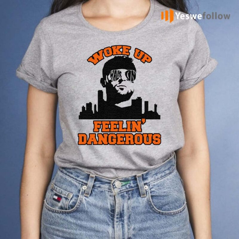 Woke-Up-Dangerous-Cleveland-Funny-Football-T-Shirt