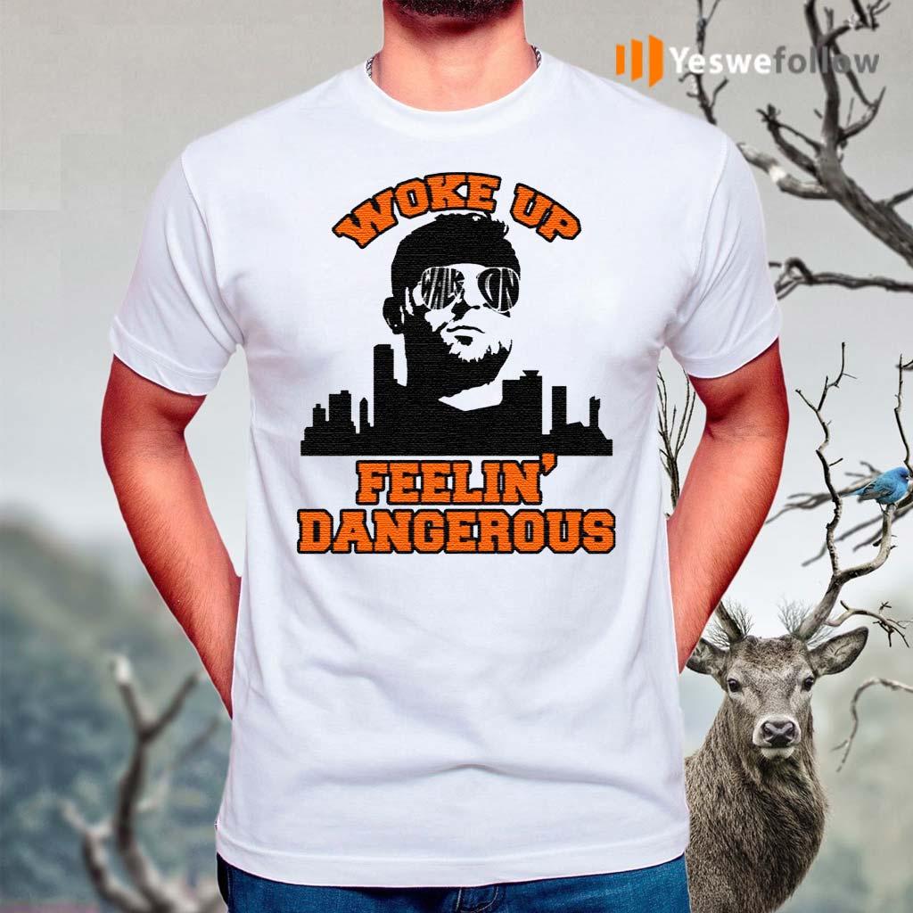 Woke-Up-Dangerous-Cleveland-Funny-Football-T-Shirts