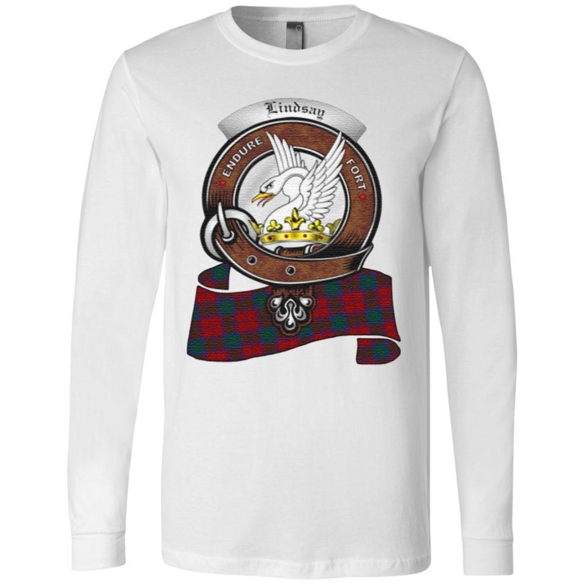Lindsay Scottish Clan Badge & Tartan TShirt
