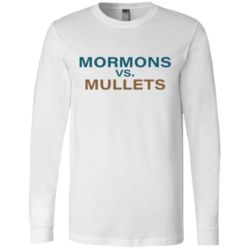 Mormons Vs Mullets Football T Shirt
