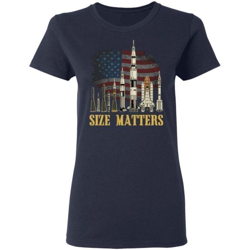 Rocket Size Matters Vintage Retro T-Shirt