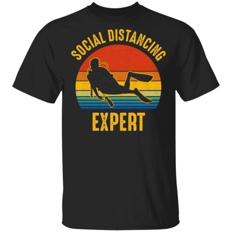 Social Distancing Expert Scuba Diving T-Shirt