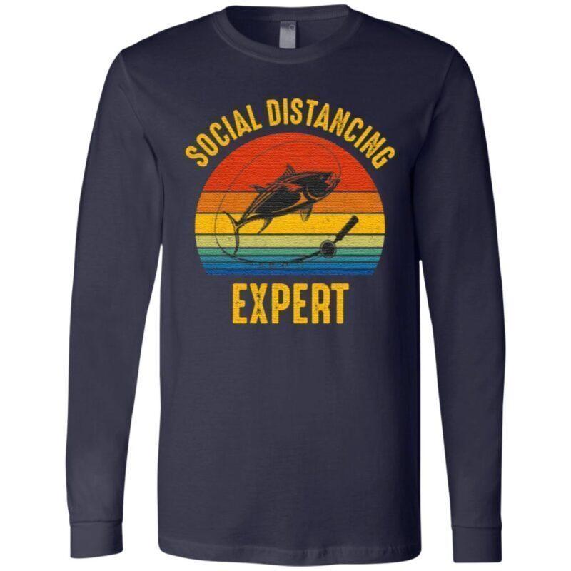 Social Distancing Expert Fishing T-Shirt
