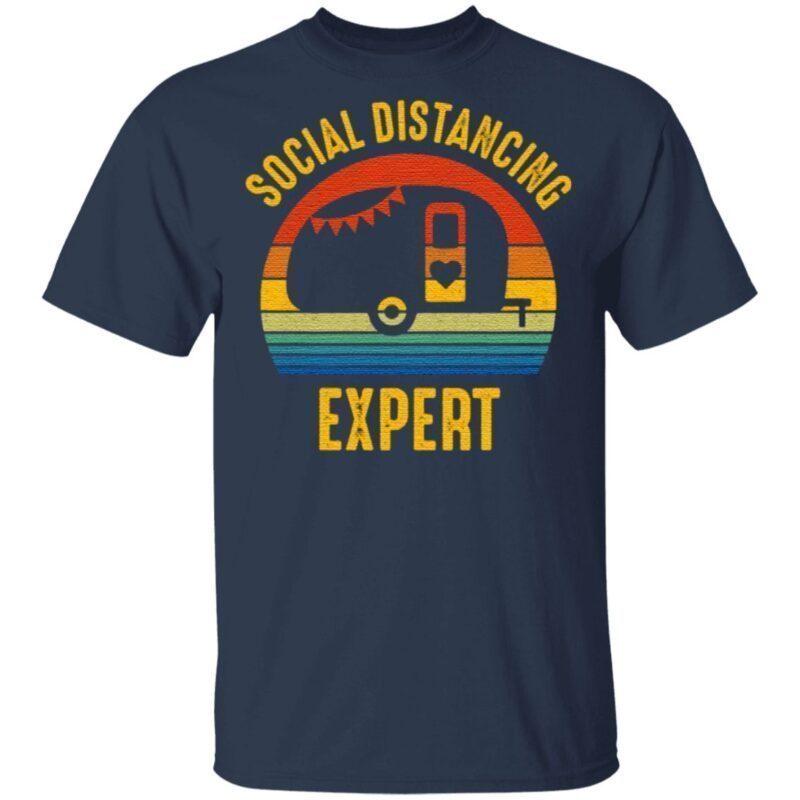 Social Distancing Expert Camping T-Shirt