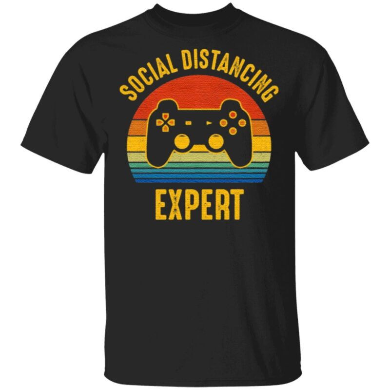 Social Distancing Expert Video Game T-Shirt