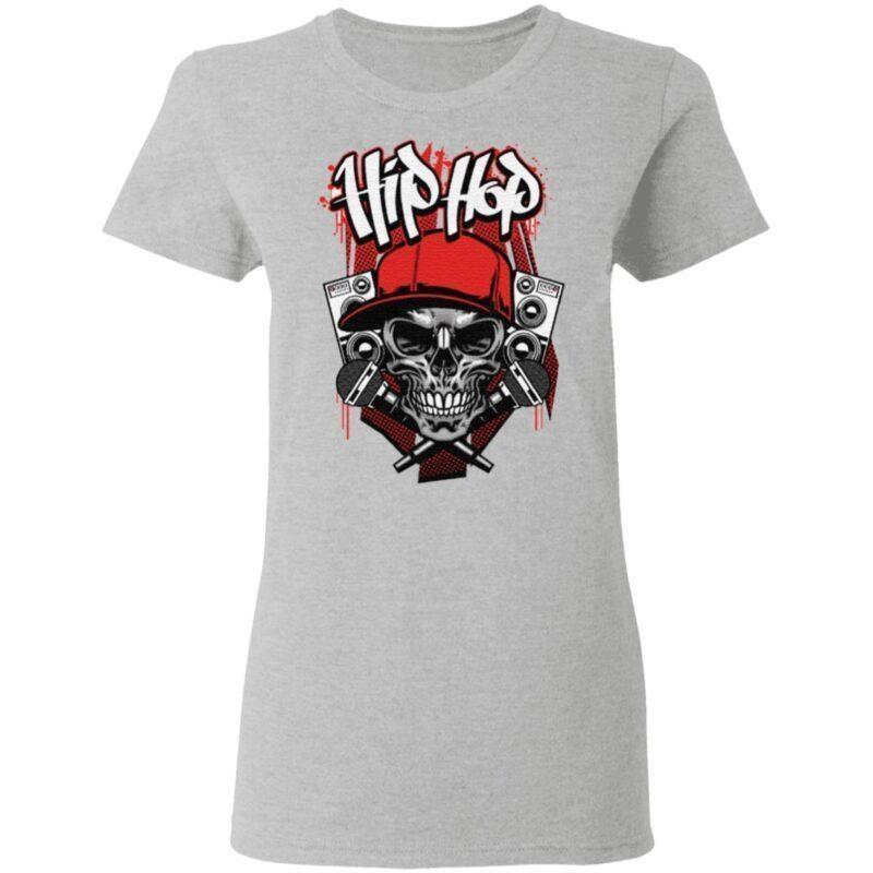 Hip hop micro skull t shirt