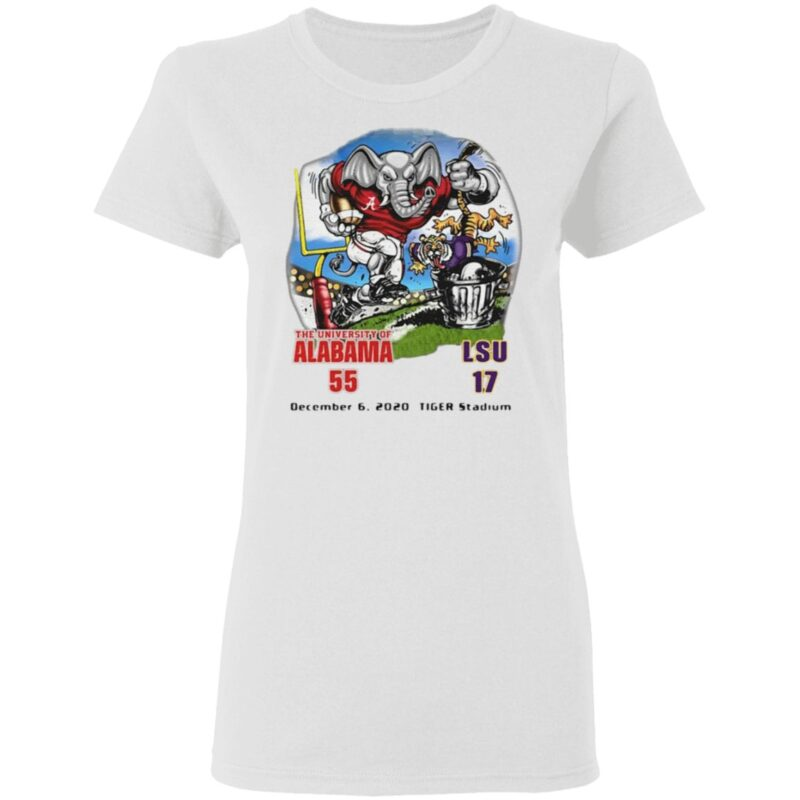 The University Of Alabama 55 LSU 17 t shirt