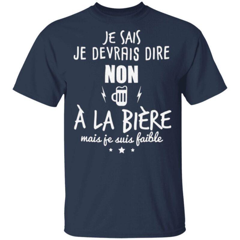 Je Devrais Dire Non A La BieRe T Shirt