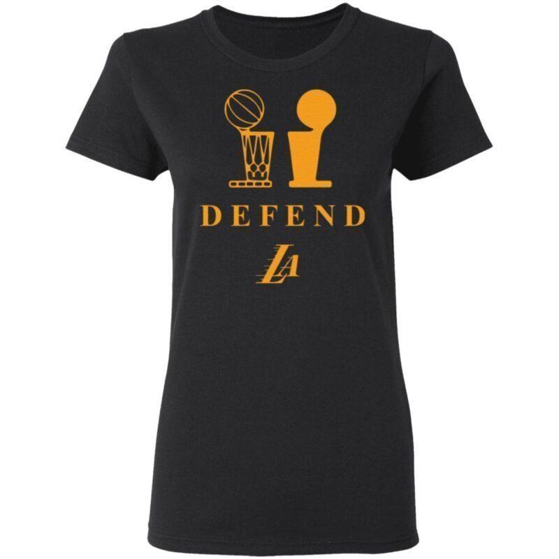 Lebron Lakers Trophy Defend T Shirt
