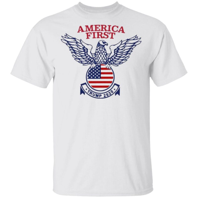 America First Tee Donald Trump 2020 Presidential Campaign t shirt