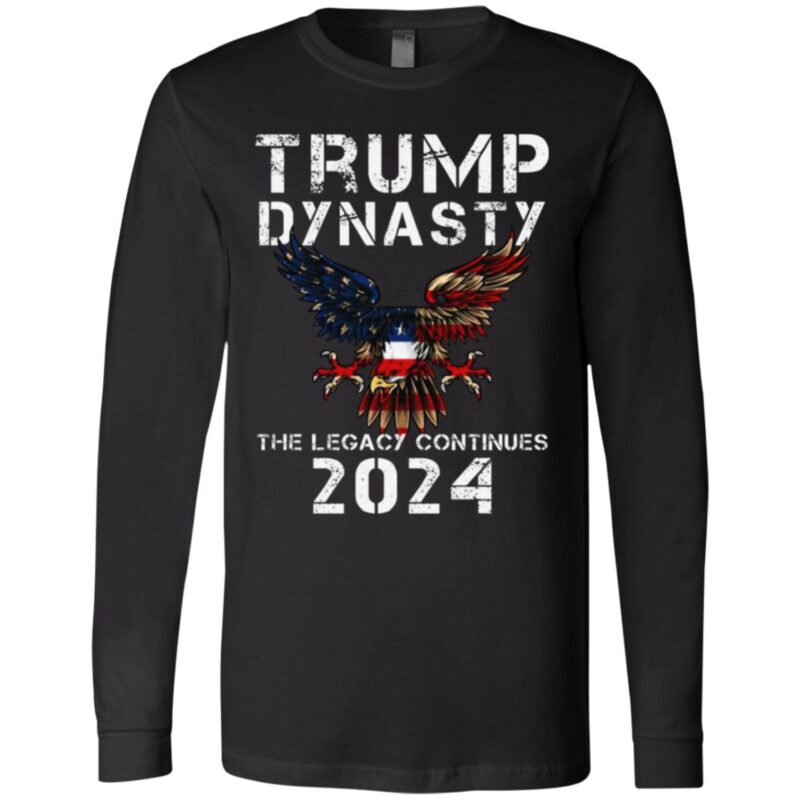 Trump Dynasty The Legacy Continues 2024 American Flag T-shirt